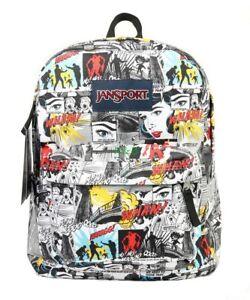 Image is loading NWT-JANSPORT-Superbreak-Backpack-Book-School-Bag-Multi- 235e4a089a297
