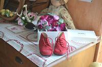 Chaussure Neuve Baby Dior Rouge En Dain De Marche 23 Boite F