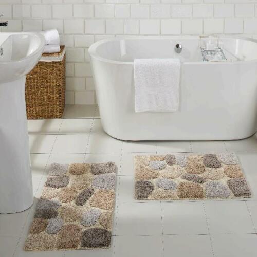CHOOSE COLOR AND SIZE Chesapeake Pebbles 2 pc Bath Rug Set