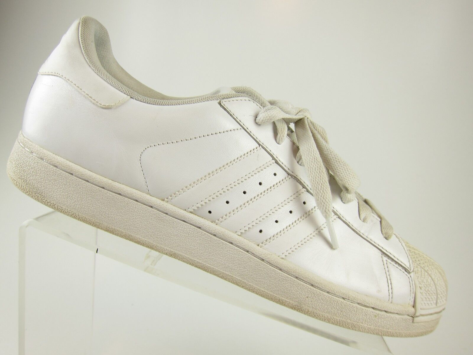 best service 67dad aa915 ADIDAS Superstar All White Shell Toe Shoes Shoes Shoes Mens Size 13  Basketball EUC Classic ddaf76