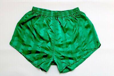 Bello Vintage Nylon Shiny Shorts Taglia Circa 8/l Xl Verde Pantaloni Sportivi Pantaloni Corti As11-mostra Il Titolo Originale