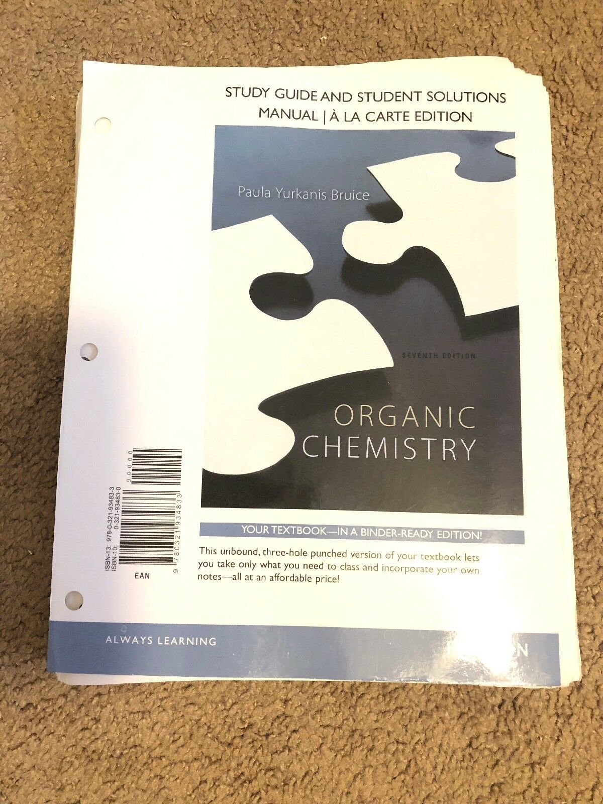 Study Guide and Student's Solutions Manual for Organic Chemistry by Paula  Yurkanis Bruice (2013, Paperback) | eBay