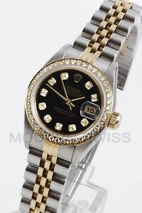 Rolex-Ladies-Datejust-Gold-amp-Steel-Black-Diamond-Dial-amp-Bezel-Jubilee-2Tone-6917