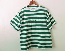 SMALL Oversize Vintage GUESS USA Green Striped TShirt 90s Stripe (ASAP Rocky) S
