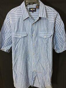 Falcon-Bay-Short-Sleeve-Shirt-Snap-Buttons-Sz-XXL