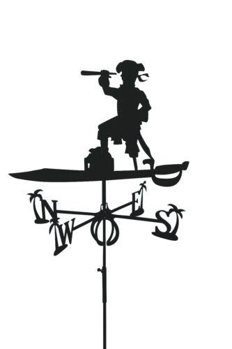 """Wetterhahn /""""Pirat/"""" groß in schwarz von SvenskaV NEU//OVP Wetterfahne"""