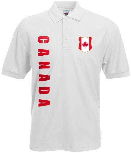 WM 2018 Kanada CANADA Polo-Shirt Trikot Name Nummer