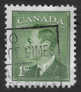 "CANADA 1949 - 1951 King George VI 1c Inscription ""Postes Postage"" (HBX)"