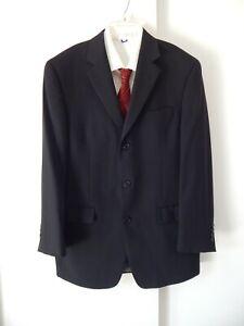 mens black CALVIN KLEIN jacket blazer sport coat 100% wool three button 39R