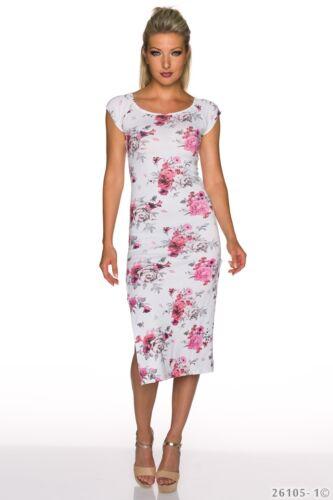Maxikleid Kleid mit Blumen Muster Sommerkleid Gr 34-36