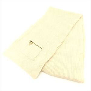 Louis-Vuitton-Scarf-wool-Beige-Woman-Authentic-Used-T8328