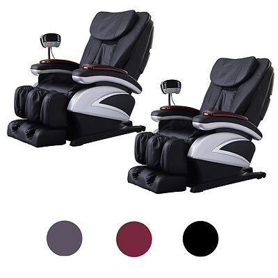 BestMassage 2 Full Body Massage Chair Recliner w/Back Roller & Heat Stretched