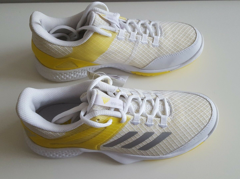 Adidas Womens Adizero Club Tennis shoes - NEW - White Yellow   (BY1610)
