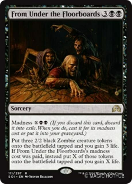FROM UNDER THE FLOORBOARDS Shadows over Innistrad MTG Black Sorcery Rare