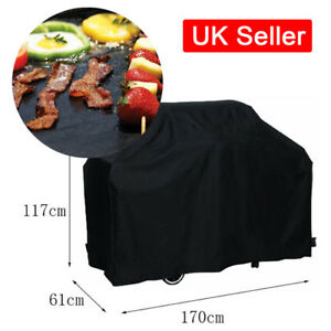 Durable-Barbecue-Small-BBQ-Rain-Cover-Garden-Grill-Mat-Sheet-Meat-Thermometer-UK