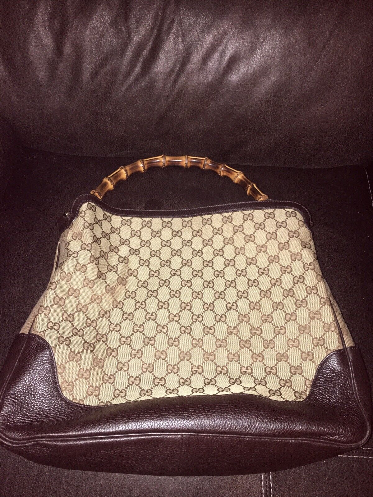 WOMENS GUCCI DIANA BAG/PURSE WITH BAMBOO HANDLE, … - image 7