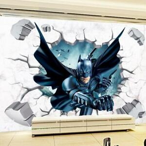 3D Broken Wall Batman Super Hero Wall Sticker Vinyl Kids ...