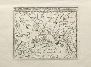 1748-Map-of-Brabant-Belgium-034-Carte-Du-Brabant-034