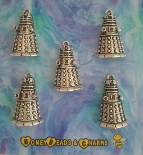 ❤ Pack of 5 ❤ CRAFTING//JEWELLERY MAKING ❤ ❤ Dalek Charms Larger