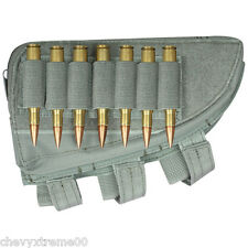 Fox Tactical Right Handed Butt Stock Rifle Cheek Rest Shell Pouch Foliage new