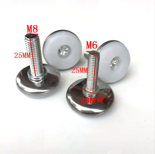 Nivellement MACHINE pieds M6 M8 M10 Vis En Hauteur Réglable Inclinable Pivotant Plaque