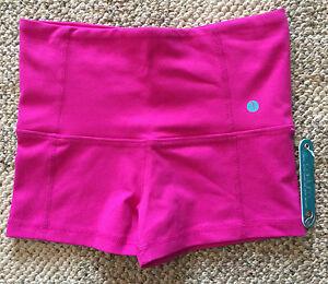 caelum womens size xs flamingo pink spandex shorts workout