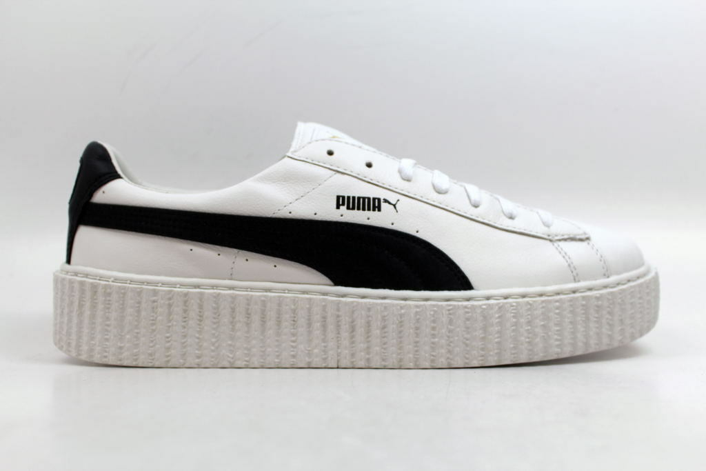 Puma Creeper White Leather Puma White/Black Puma X Fenty Rihanna 364640 01 Price reduction