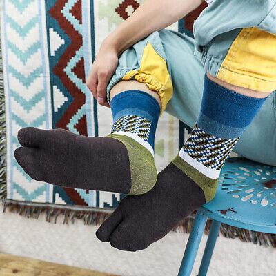 2 Pairs Women Silky Tabi Socks Non Slip Ankle Breathable Crew Socks One Size