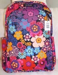 a29e5da990 VERA BRADLEY Lighten Up Large Laptop Backpack - Floral Fiesta Padded ...