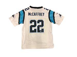 fabbdf78 Image is loading Christian-McCaffrey-Carolina-Panthers-Away-White-Signed -Jersey-