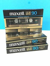 3 NEW MAXELL UD XL II 90 UD XLII CASSETTE TAPE >> SEALED