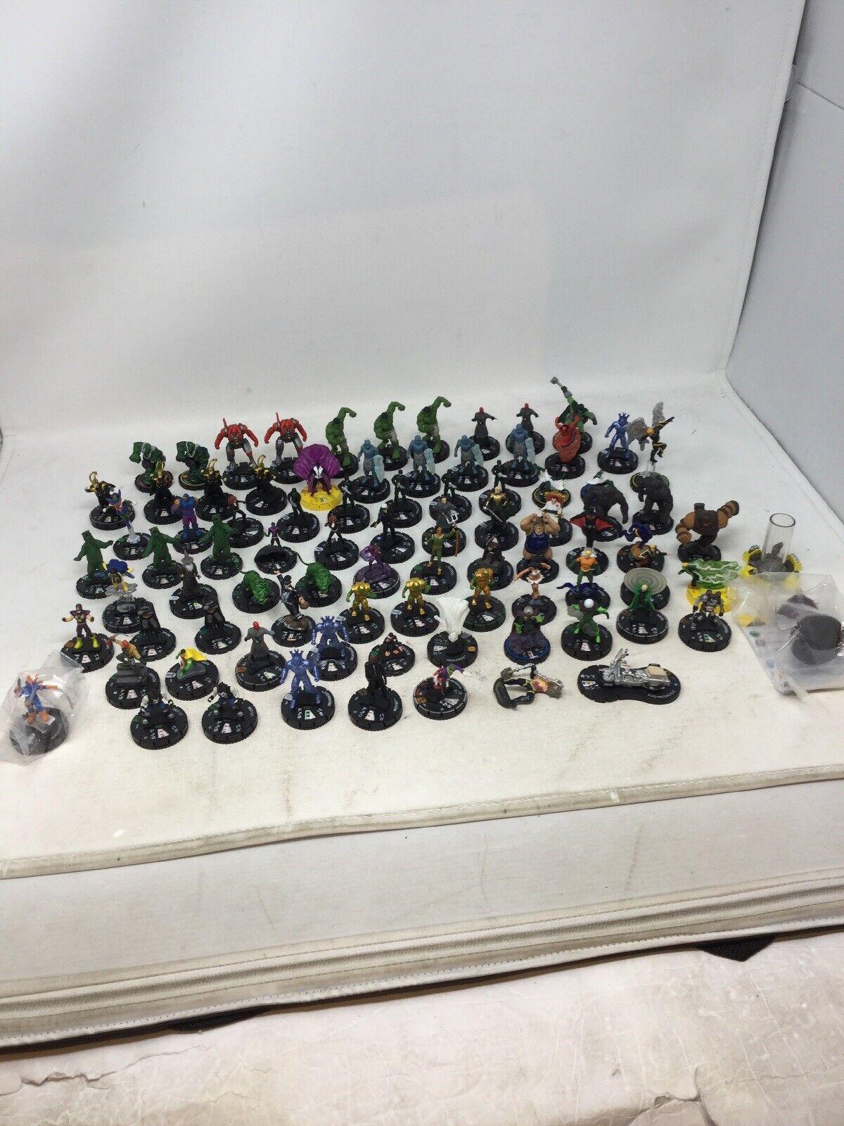 Lot of 80 HeroClix Figures DC Marvel RPG Fantasy