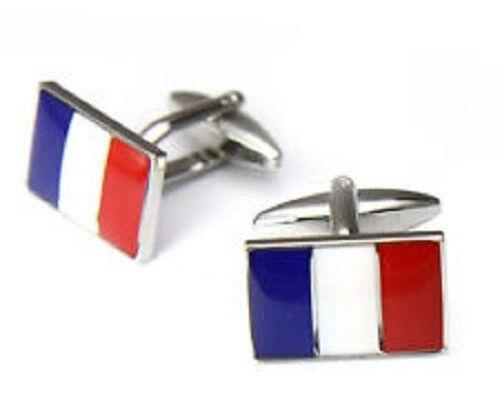4CUFF France French Flag Cufflinks-French Western Europe European Paris $15.28
