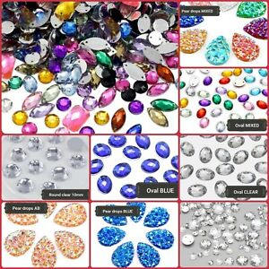 All-Size-amp-Shape-Sew-On-Flatback-Rhinestones-Crystals-Stones-Gem-Stones-UK-1