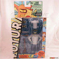 Futurama Chef Bender Series 8 Figure By Toynami With Roberto Robot Part Rip Box