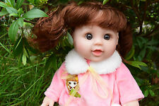 """12"""" BELLA INTERACTIVE TALKING BABY GIRLS DOLL REAL LIFE LOOKING FRENCH EUROPEAN"""