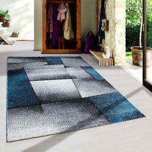 design-moderno-CONTORNO-Tappeto-ASTRATTO-LINEE-soggiorno-Turchese-Erica