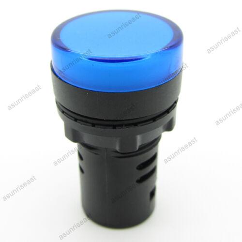 5PCS Blue 22mm AC//DC12V LED Indicator Light Power Signal Panel Lamp AD16-22D//S