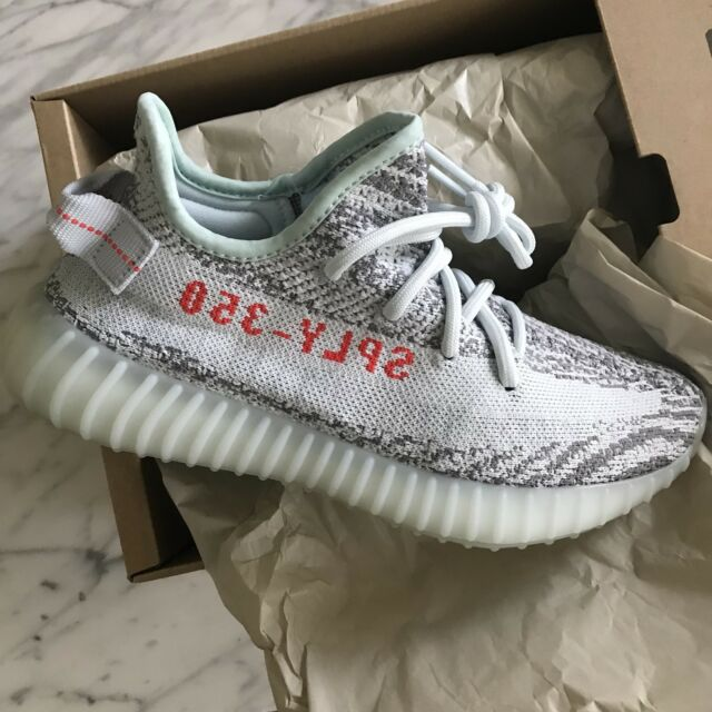 f60501f9ec859 Mens adidas Yeezy Boost 350 V2 Blue Tint B37571 US 6 for sale online ...