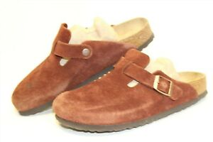 Birkenstock-Germany-Made-Womens-9-40-Boston-Suede-Casual-Clogs-Shoes