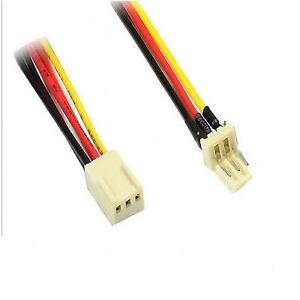 Luefter-Molex-Verlaengerung-30cm-3-Pin-Stecker-Buchse-mit-Tachosignal-Luefter-0-3m
