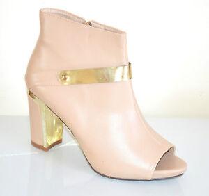 f0fb9d0c0159b TRONCHETTI BEIGE donna scarpe decolte stivaletti tacco oro alto ...