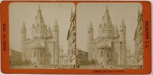 Germania Mainz Magonza Cattedrale Foto Stereo Th1L8n3 Vintage Albumina