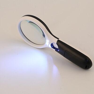 3~40x Led Illuminated Jewellery Reading Loupe Magnifying Glass Eye Len St