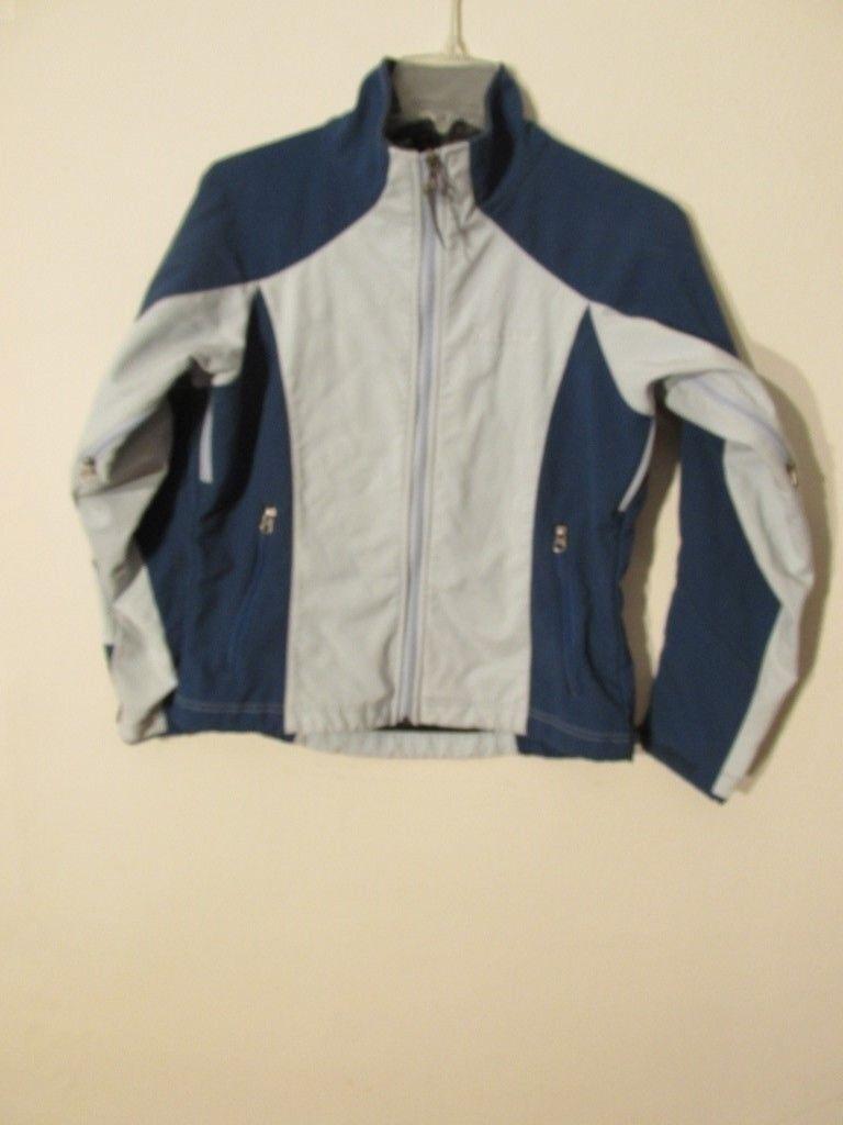 S7195 Marmot, chaqueta azul a prueba de viento con ventilación, con cremallera y forro polar, color azul medio, para mujeres