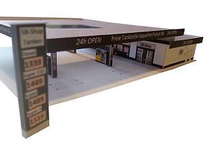 Moderne Tankstelle TT Epoche 5//6 Kartonmodellbausatz