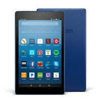 All Model Amazon Fire Hd 8 Tablet 16 Gb 7th Generation 2017 Release - Blue