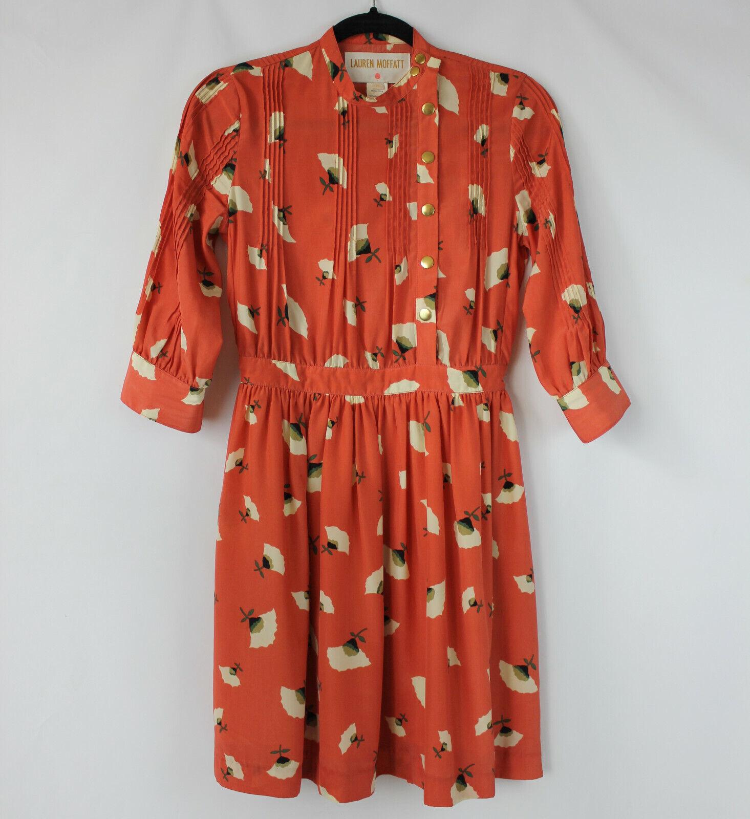 Anthropologie Lauren Moffatt Rare Poppy Field Dress Größe 0