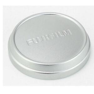 Push-Up-Front-Lens-Cap-Cover-fr-Fuji-Fujifilm-x100-x100t-x100s-x70-Kamera-Silber
