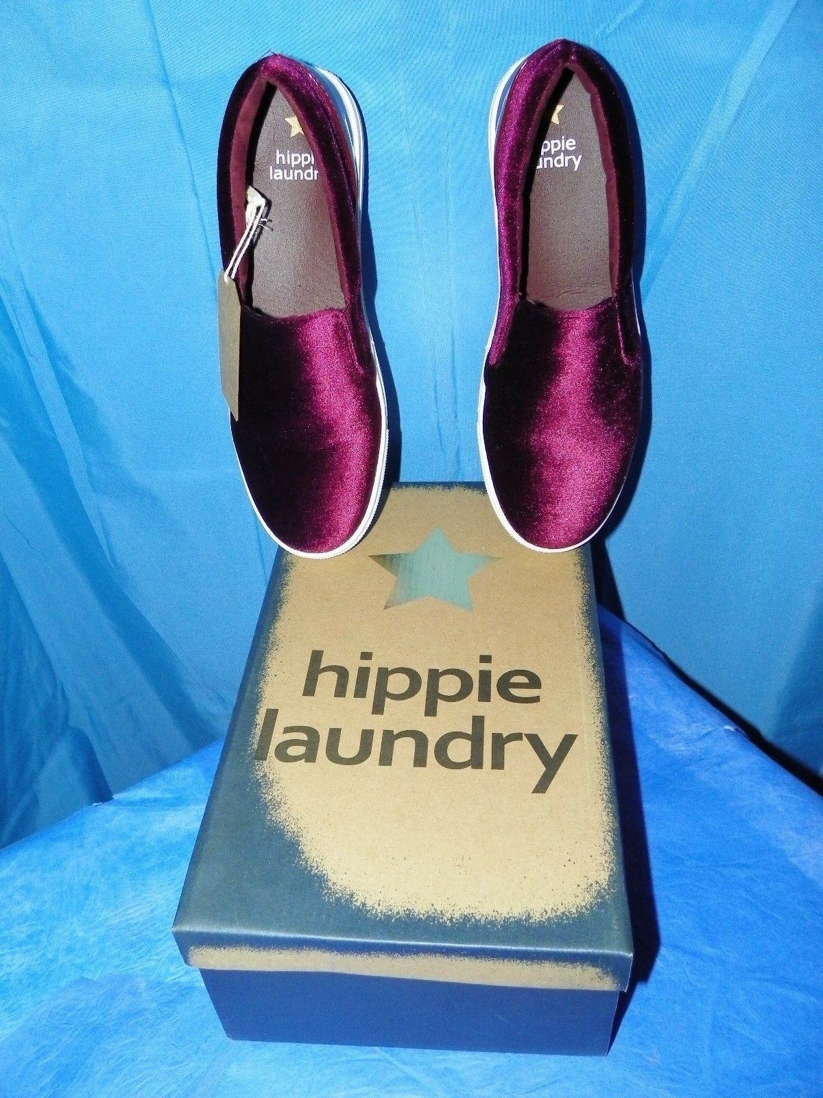 HIPPIE LAUNDRY damen PIPPA BURGUNDY SLIP ON ON ON schuhe A5136-31K Größe 8.5 NEW IN BOX ce7780